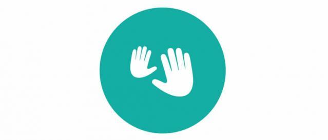 newborn massage hands icon