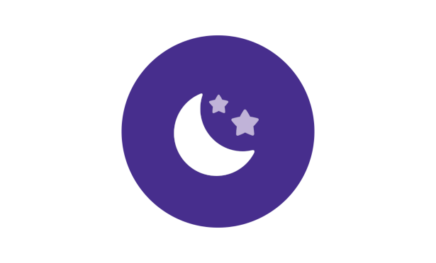 Johnson's® baby bedtime routine quiet time moon icon