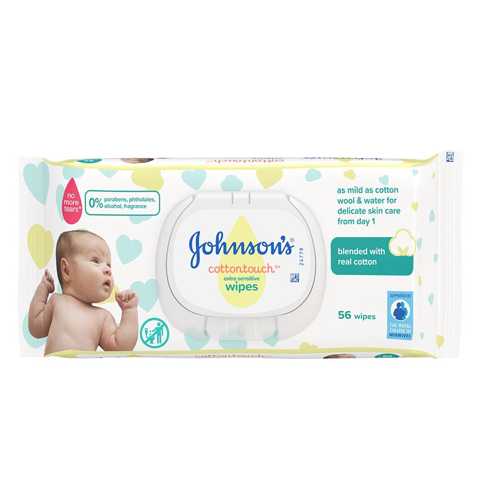 JOHNSON'S® CottonTouchTM Baby vlažne maramice