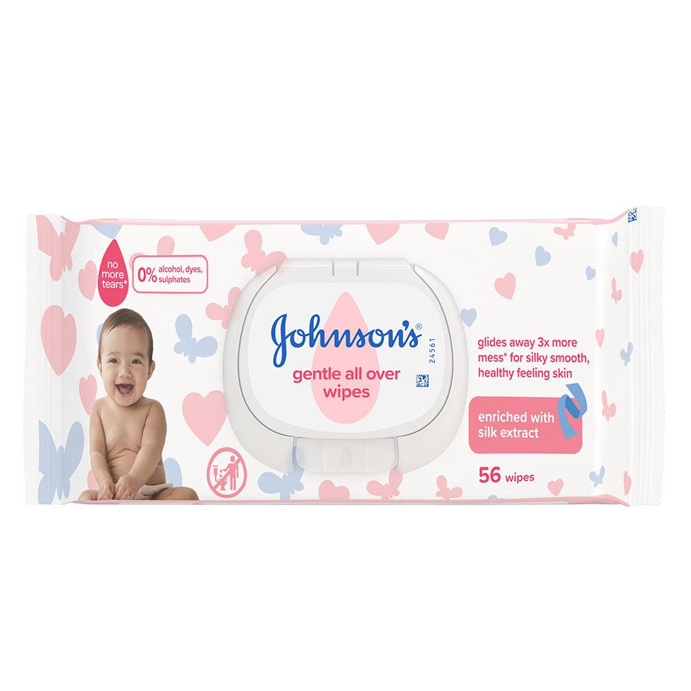 Johnson's бебешки кърпи