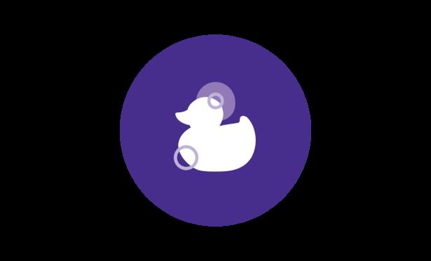 Johnson's® baby bedtime routine warm bath duck icon